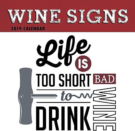 Amazon.com: Calendario de pared 2019 – Calendario de vino ...