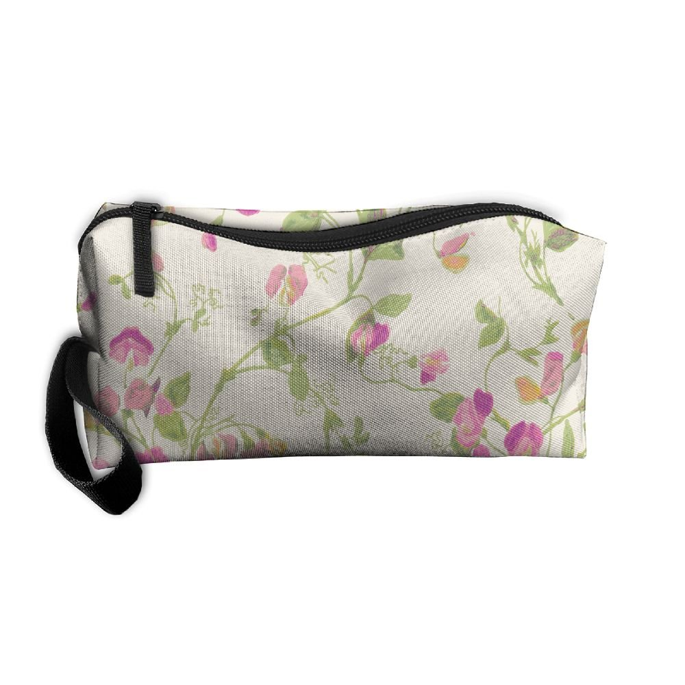 fb93cca9cd60 free shipping Sweet Pea Flowers Pattern Makeup Bag Printing Girl ...