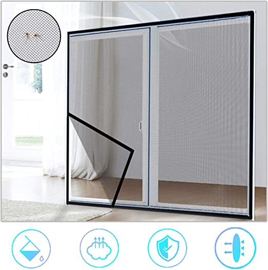 28x47inch Self-Adhesive Fiberglass Window Mesh Netting Mesh Mosquito,Replacement Window Screens Material,Keep Bugs//Mosquitoes Out,Suitable for Multiple Windows,70x120cm