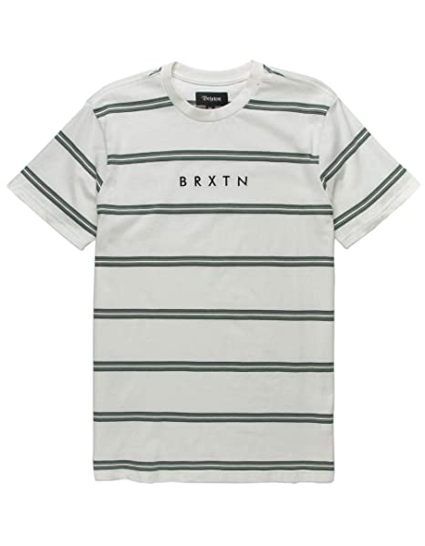 576a09e2b6b0d6 Image Unavailable. Image not available for. Color: Brixton Striped Off  White T-Shirt ...