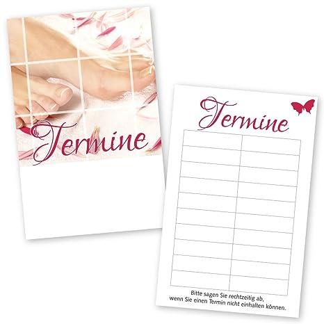 100 pies Cuidado - Agenda Tarjetas Pink Lady con 10 Agenda ...