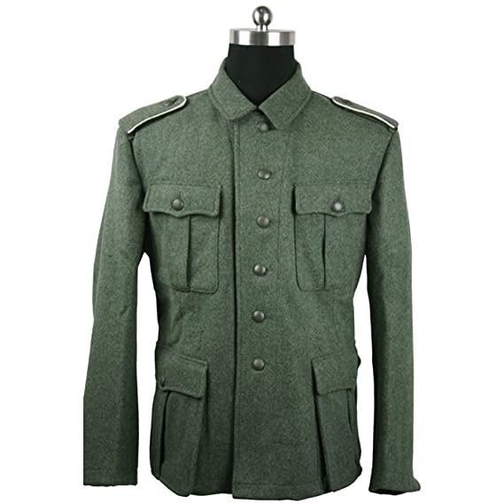 1940s Men's Costumes: WW2, Sailor, Zoot Suits, Gangsters, Detective WW2 German Field Green Wool M41 Sodier Jacket $121.74 AT vintagedancer.com