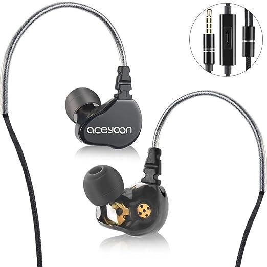2 opinioni per aceyoon Cuffie Earhook Hi Fi Treble In Ear Monitor Musicista Dual Dynamic Cuffia