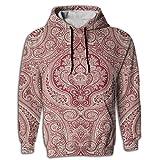 Paskcc Men's Hoodie Wholesale Sweatshirt Kangaroo Pocket Egyptian Traditional Red Athletic