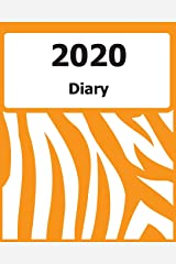 "2020 Diary: Large Print, (Orange Zebra Pattern Cover) - 8"" x 10"" - Months, Important Dates, Weekly Planner - Simple layout. Large Print. Easy to use for visually impaired Paperback"
