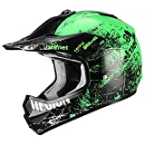 Triangle Motorcycle Helmets Youth Off Road Sport ATV Motocross Dirt Bike [DOT] Green (Small)