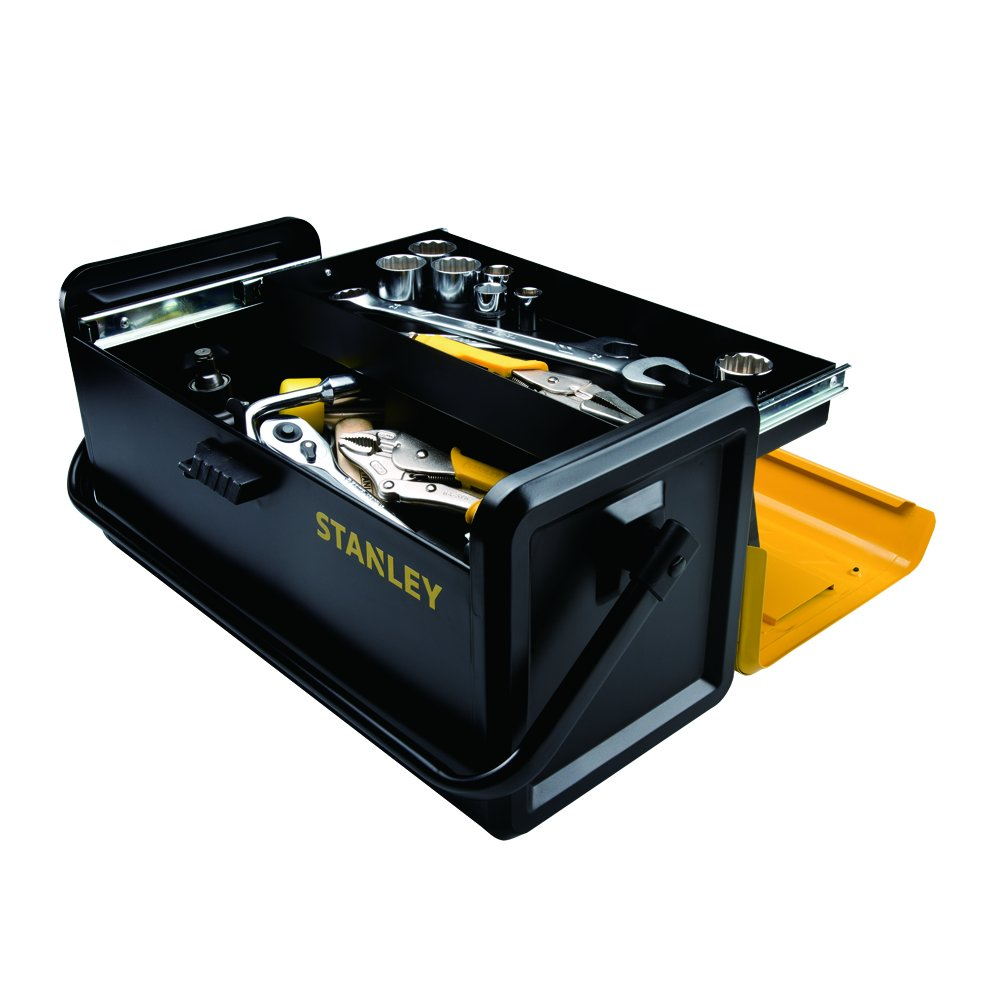 Stanley STST19501 Auto Slide Drawer Metal Tool Box, 19-Inch
