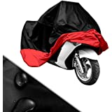 XXL Motorcycle Motorbike Water Resistant Waterproof Rain UV Protective Breathable Cover Outdoor Indoor Red and Black