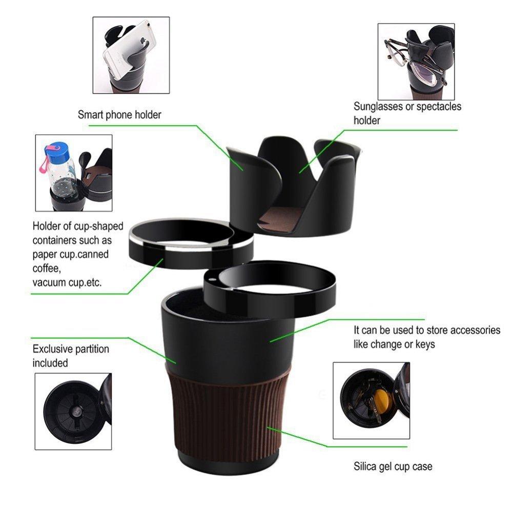 Schwarz /¡/ kasit Getr/änkehalter Multifunktional Getr/änkehalter Fahrzeug Aufbewahrungsbox Handy Becherhalter Brillenhalter f/ür Trank Kaffe,Kleine Dinger