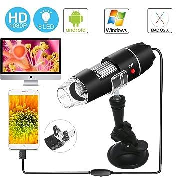 Amazon.com: Microscopio USB - Endoscopio Ampliación Digital ...
