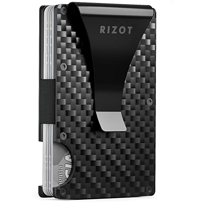 2c927e5561b0 Carbon Fiber Wallet - Minimalist RFID Blocking Slim Wallet -Front Pocket  Wallets for Men - Metal Wallet - Carbon Fiber Money Clip - Men Card Wallet