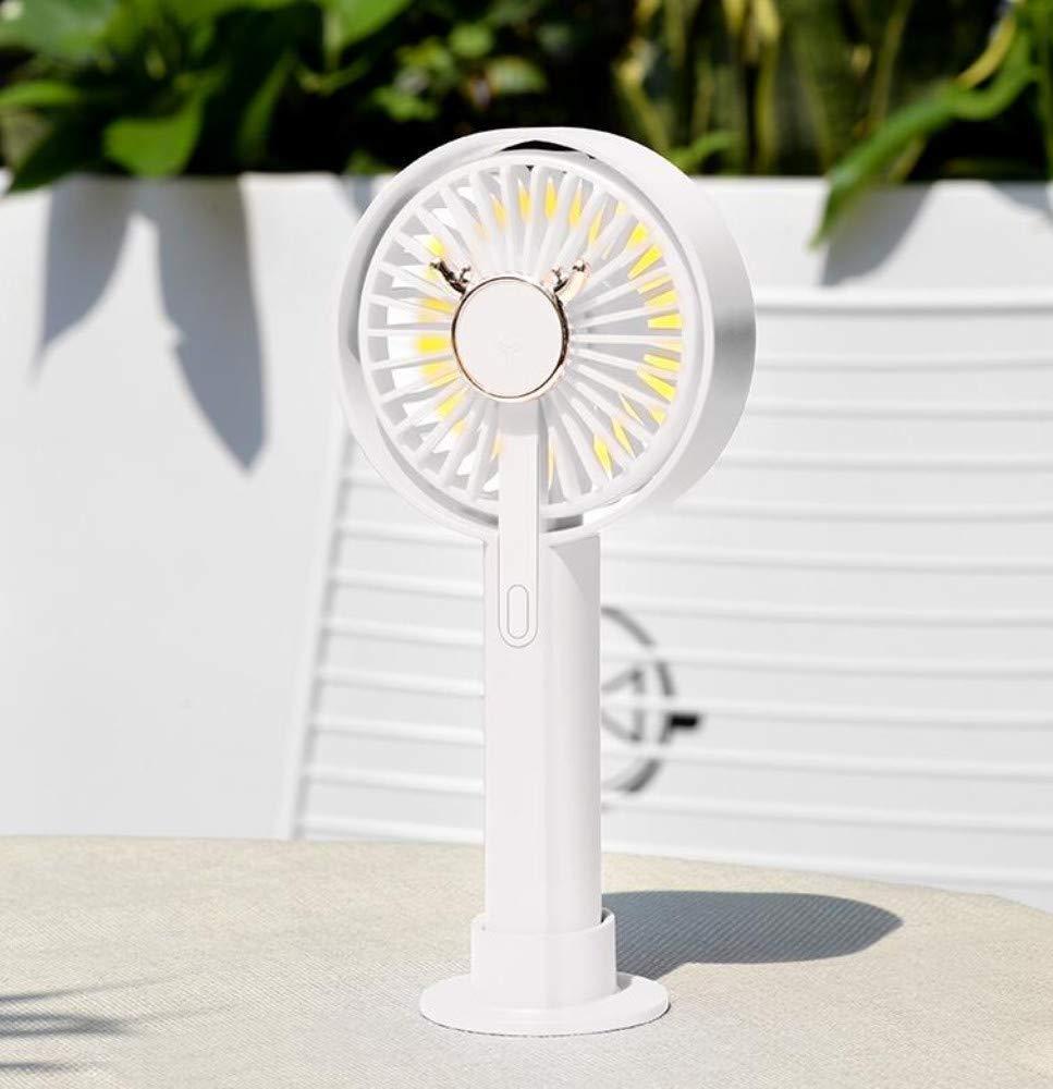 XFS Creative Simplicity Summer Fan,USB Small Fan,Portable Rechargeable Student Dormitory Bed Mini Mute Office Desktop Desk Desktop Handheld Electric Fan,Battery Fan by XFS