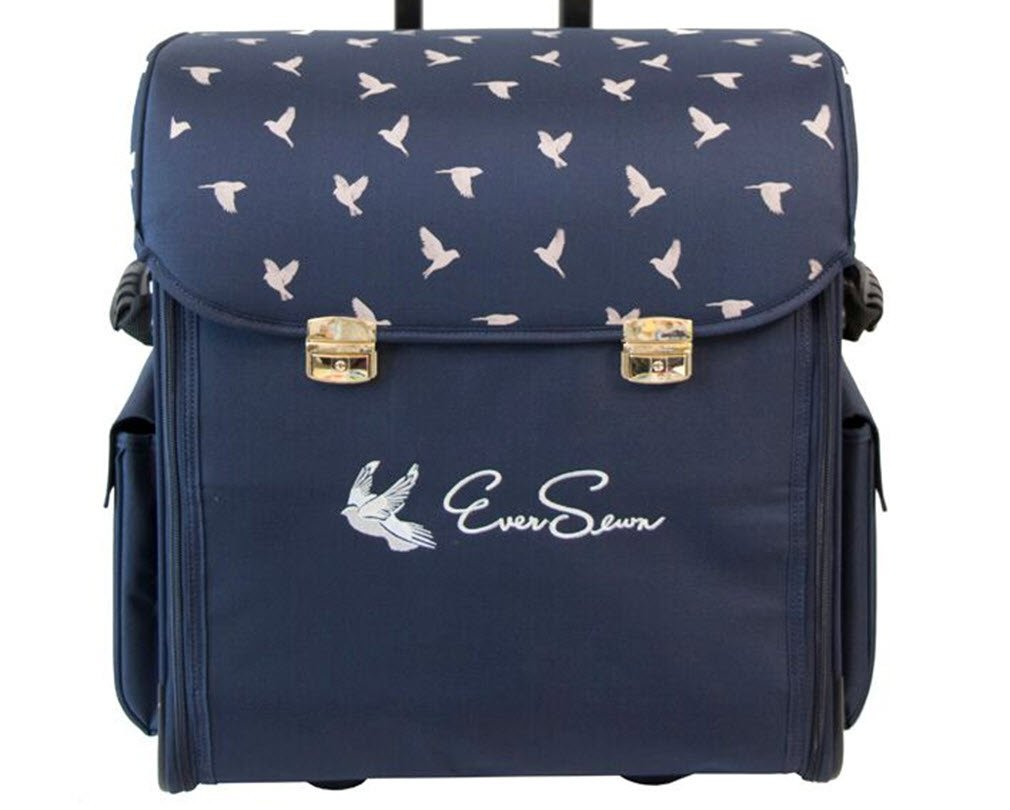Eversewn Sewing Machine Rolling Tote (Navy) by Ever Sewn