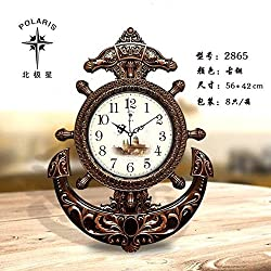 Znzbzt Simple Creative Mute Wall Clock Minimalist Modern Home Wall Clock Corporate Office Building in Table Black and White Quartz Watches Mute Clock, 20 inch, Light brow
