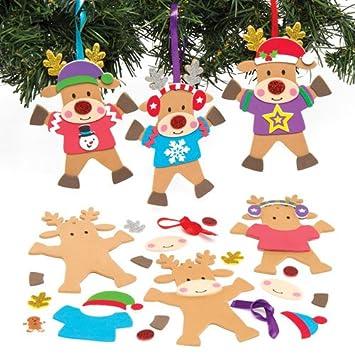 Kits Infantiles De Adornos De Navidad En Forma De Reno Con Jerseis - Adornos-navidad-infantiles