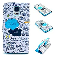 Galaxy S5 Case,S5 Case, Kmety Magnetic Snap Wallet Flip PU Leather With Stand Cover Case for Samsung Galaxy S5
