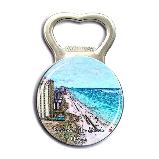 Imanes de nevera de Panamá City Beach USA America con cristal ...