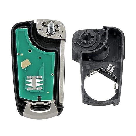 HEIRAO Llave del Coche, Llave remota Inteligente de 2 Botones, Llavero para Vauxhall Opel Astra H Zafira B 2005 2006 2007 2008 2009 2010