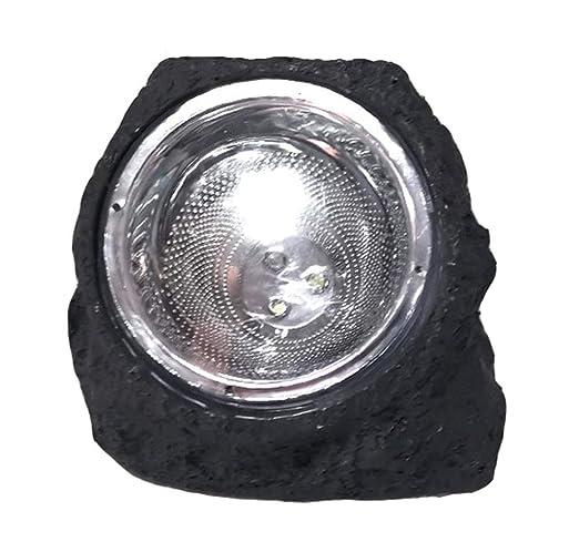 Resina Simulación Solar Piedra Luz Exterior LED Proyector de ...