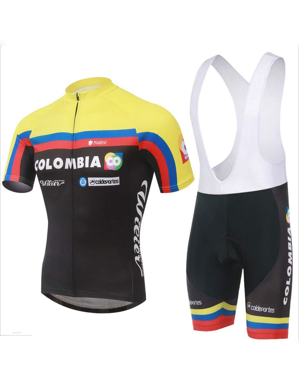 Fonly Gelbe Männer und Frauen Kurzarm Jersey Klage Gebirgsfahrrad Kurze Hosen Ausgerüstete Fahrrad Kleidung, Die Jersey Radfahren