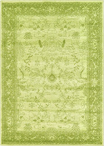 Unique Loom La Jolla Collection Tone-on-Tone Traditional Light Green Area Rug (4' 0 x 5' 7)