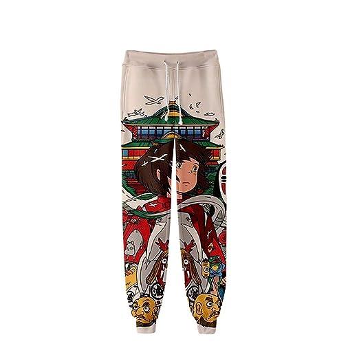 HXPainting Pantalones De Chándal con Cordón 3D Impresión Spirited ...