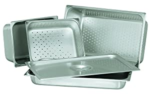 Update International STP-502PF S/Perforated Steam Table Pan, Half, 2 1/2 in Deep, 18-8 Stainless Steel AISI-304