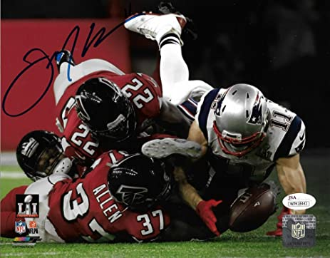 Julian Edelman New England Patriots Signed Super Bowl LI Catch 8x10 Photo JSA