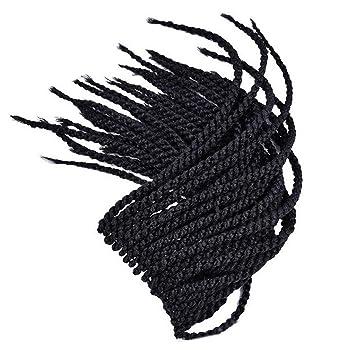 Trenzas pelucas africanas mano negro trenzas negro africano coleta comercio exterior fibra química trenzas 18