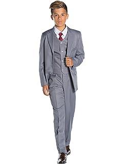 Shiny Penny - Traje azul para niños, traje de niño para boda, traje de graduación, desde 12-18 meses hasta 16 años: Amazon.es: Ropa y accesorios