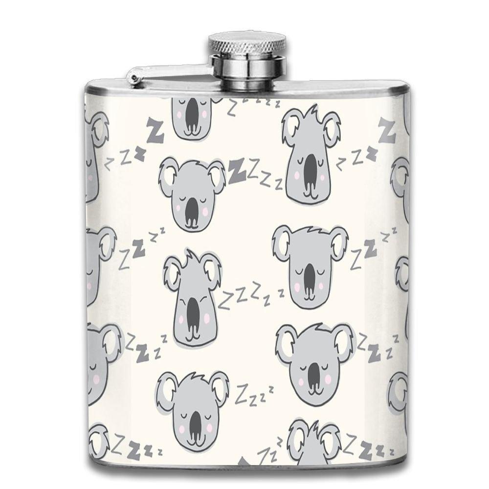 最高級 jf-x Sleeping Sleeping Koala Personalised酒WiskeyステンレススチールヒップフラスコワインポットFlagon (7oz) B07CV6J77M Koala B07CV6J77M, サイズが豊富なスーツドレス TSC:ed78a103 --- a0267596.xsph.ru