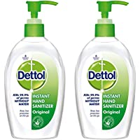 Dettol Instant Hand Sanitizer, Original - 200 ml (Pack of 2)