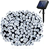 Solar Outdoor Lights 115ft 300 LED Fairy String Lights,Waterproof Ambiance Lighting for Patio, Lawn, Landscape, Fairy Garden, Home, Wedding, Holiday, Christmas Party, Xmas Tree(Cool White)