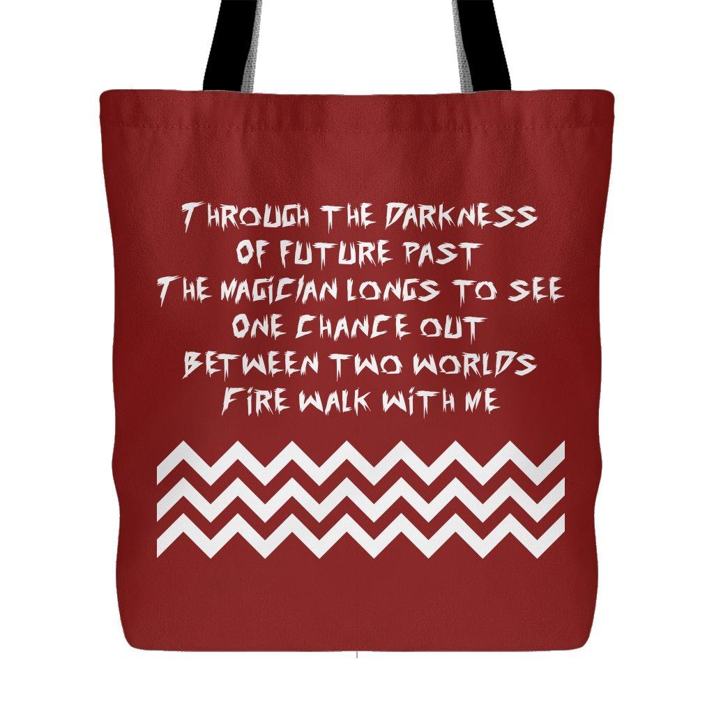 Fire Walk With Me Complete Poem - Black Lodge - Twin Peaks Tote Bag