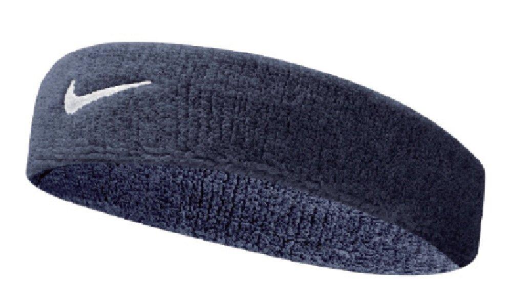 Nike Swoosh Headband (Obsidian/White, Osfm) by Nike