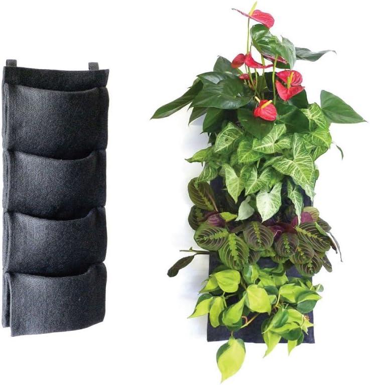 Florafelt - Maceta vertical de jardín de 4 bolsillos: Amazon.es: Jardín