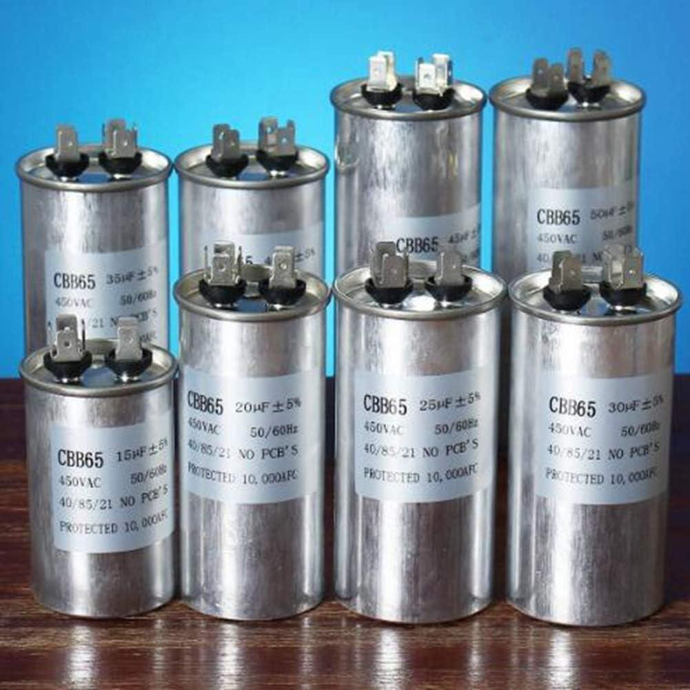 E 35uF LaDicha 15-50uF Motorkondensator CBB65 450VAC Klimakompressor Start Kondensator