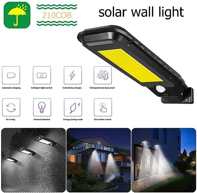 Solar Street Lights Outdoor Security Light Wall Lamp Motion Waterproof 128 COB