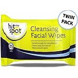 Hit The Spot limpieza facial toallitas – Twin Pack – 50 toallitas