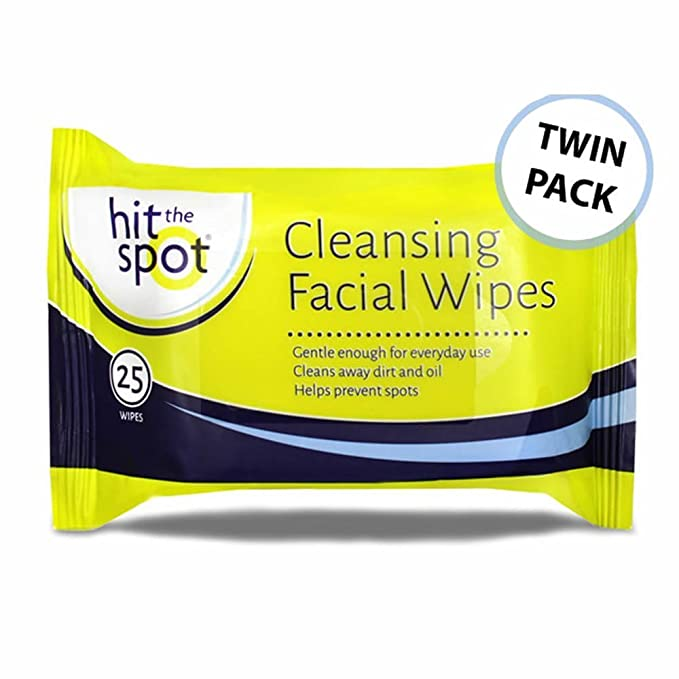 Hit The Spot limpieza facial toallitas - Twin Pack - 50 toallitas: Amazon.es: Salud y cuidado personal