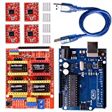 arduino motor shield kit - Longruner GRBL CNC Shield Expansion Board V3.0 +UNO R3 Board + A4988 Stepper Motor Driver With Heatsink for Arduino Kits (Arduino Kits)