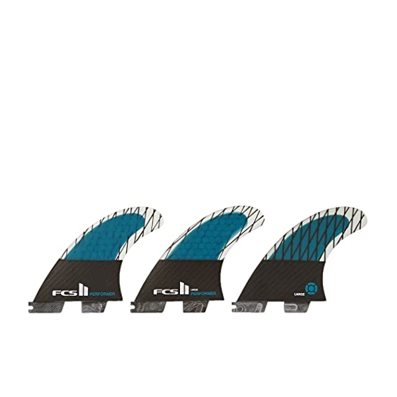 FCS II Performer Performance Carbon Tri Fin Set - Blue - Small by FCS: Amazon.es: Deportes y aire libre