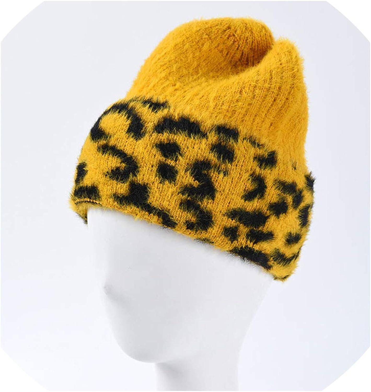 Hat Women Leopard Velvet...