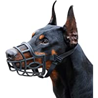 Dog Muzzle, Breathable Basket Muzzles for Small, Medium, Large and X-Large Dogs, Stop Biting, Barking and Chewing…