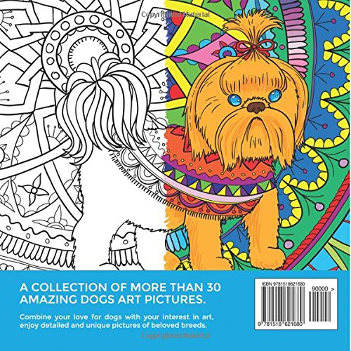 Amazing Dogs Adult Coloring Book Stress Relieving Volume 3 Tali Carmi 9781518621680 Amazon Books