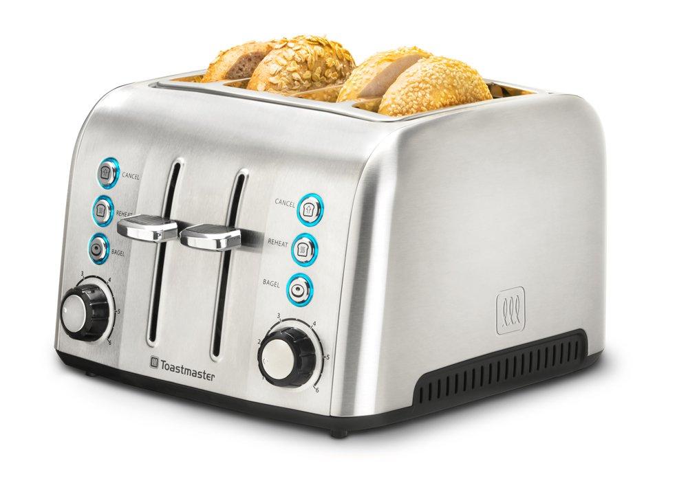 Toastmaster TM-43TS 4 Slice Toaster, Stainless Steel