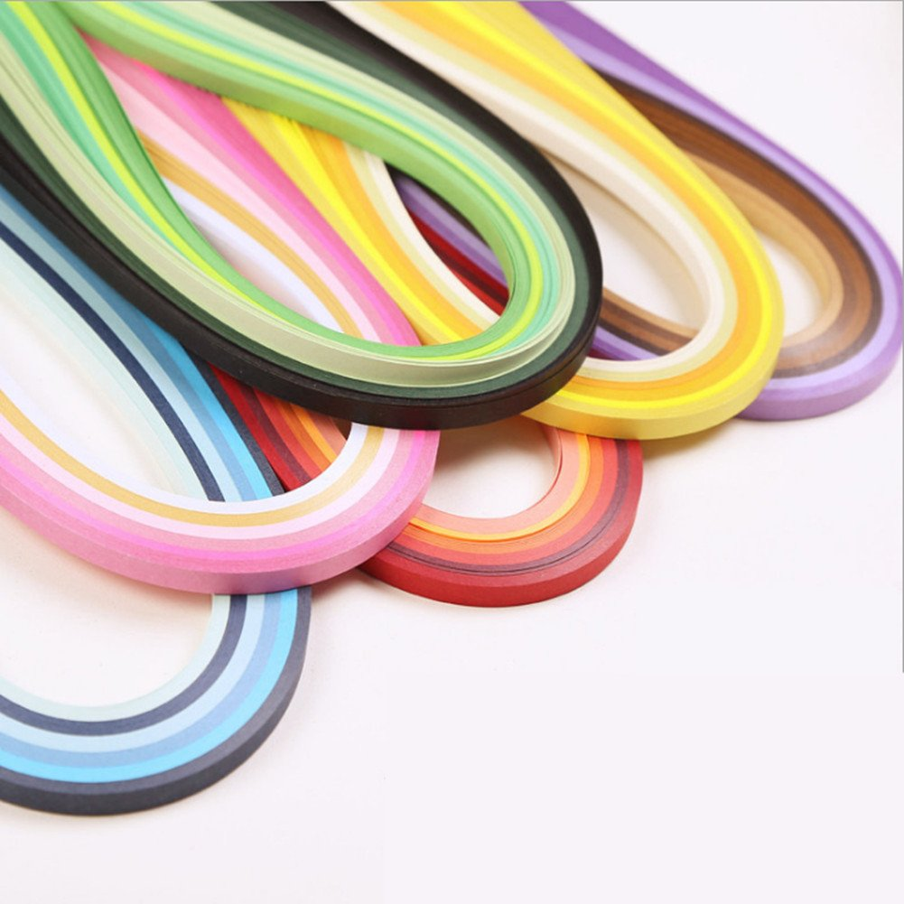 Paper Quilling Strips Set, 36 Colors 720 Strips Width 10mm Length 54cm QUSHE PQ-6C54CM10MM