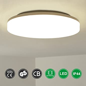 AETHLUX® 12W LED de luz de techo redonda IP44 a prueba de ...