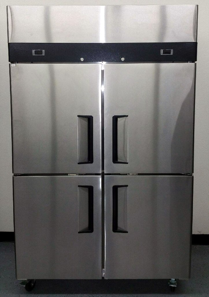 48'' 4 Door Refrigerator and Freezer Combo Stainless Steel Reach in Commercial Fridge/Freezer, 30.2 Cubic Feet, Dual Digital Thermostats, for Restaurant