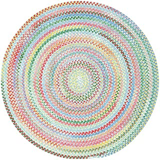 product image for Capel Rugs Baby's Breath 7 ft. Round Braided Area Rug (Medium Blue)
